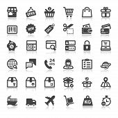 pic of fragile sign  - Set of flat icons with reflection about shopping online - JPG