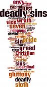 image of sinful  - Deadly sins word cloud concept - JPG