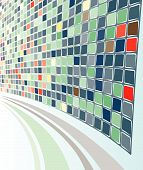 Abstract Perspective Grey-Green Mozaic background