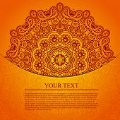 picture of scrollwork  - Vintage circular pattern of indian - JPG