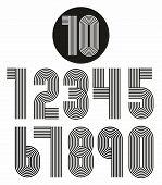 pic of funky  - Retro stripes funky numbers settrendy elegant retro style design - JPG