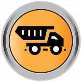 stock photo of truck-cabin  - Art illustration vector image of construction truck icon - JPG
