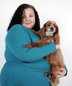 Plus Size Girl And Dog