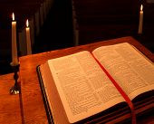 Bible On Pulpit- Angled