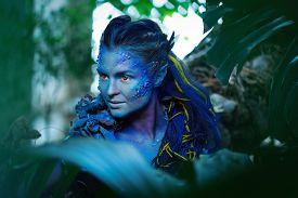 pic of avatar  - Avatar woman in a magical forest - JPG