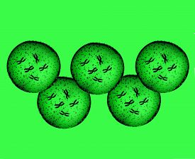 stock photo of microbes  - Olympians green microbes in my strange mind - JPG