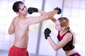 Martial Art. Self-defense Woman Training.