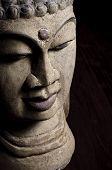 Old Buddha head statue