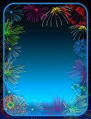 Fireworks Border