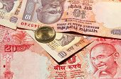 image of gandhi  - Indian rupee notes with portraits of Gandhi - JPG