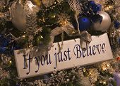 If You Just Beleive Sign Ornament