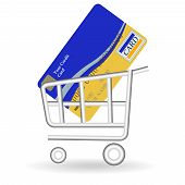 Credit Card And Handcart