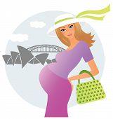 Pregnant woman in Australia