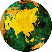 Asia On Globe Map