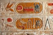 Egyptian Kartush Hieroglyphics