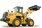 Wheel Loader Excavator Isolated