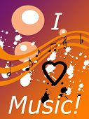 Musical Notes On Colorful Page
