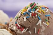 stock photo of ice cream sundae  - close up ice - JPG