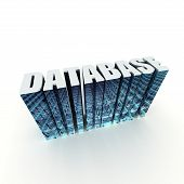 Database 3D Title Text Label