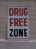 Drug Free Zone sign poster