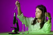 Young Girl Playing Chemist