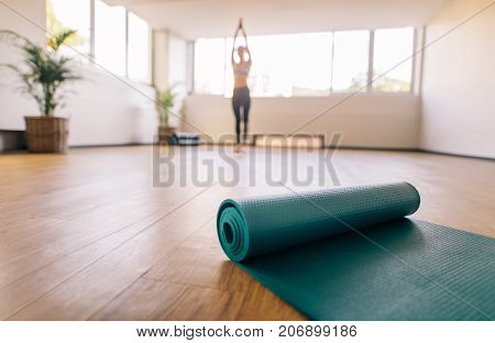 Exercise mat on