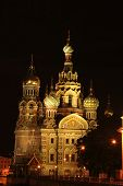 Постер, плакат: Санкт Петербург Россия Церковь «спас на крови»