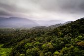 Forest Landscape and Mountains in a Cloudy day in Brazil poster