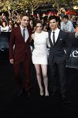 LOS ANGELES - JUN 24:  Robert Pattinson, Kristen Stewart, Taylor Lautner arrive at the premiere of 'The Twilight Saga: Eclipse' on June 24, 2010 at the Nokia Theater at LA Live in Los Angeles, CA