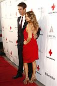 SANTA MONICA - APR 9: Josh Duhamel, wife Fergie aka Stacy Ferguson arriving at the American Red Cross, Santa Monica Chapter's Annual Red Tie Affair in Santa Monica, California on April 9, 2011