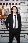 LOS ANGELES - 11 de APR: Patrick Fugit chegando na estréia da HBO Films 'Cinema Verité' a Par LA