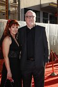 LOS ANGELES - MAY 2:  Patricia Tallman, J. Michael Straczynski at the premiere of Thor at the El Cap