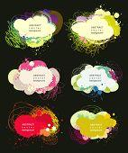 colorido diálogo burbujas eps10