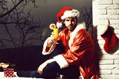 Handsome Bearded Sexy Christmas Man poster