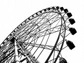 picture of ferris-wheel  - a ferris wheel at a local fun fair seen in silhouette - JPG