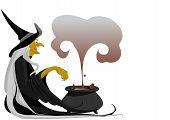 Witch With Cauldron