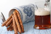 Salty Pretzels And Beer