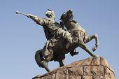 stock photo of hetman  - Equestrian statue of Hetman Bohdan Khmelnytsky in Kyiv - JPG