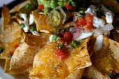 pic of mexican food  - Deluxe Serving of Nachos Grande in Mexican Restaurant - JPG