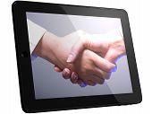 Handshake, Handshaking On Tablet Computer
