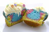 Tie Dye Cupcake