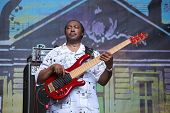 LVIL, UKRAINE - JUNE 3: Vasti Jackson Trio in concert during Alfa Jazz Festival on June 3, 2011 in L