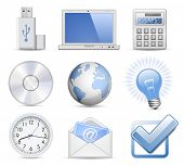 Universal Web Icon Set - Office. Highly detailed vector icons