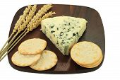 Blue Cheese And Water Crackers.