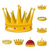 Vector Design Of Monarchy And Gold Icon. Collection Of Monarchy And Heraldic Stock Vector Illustrati poster
