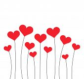 Red Hearts Growing poster
