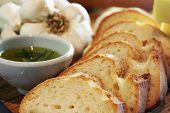 Garlic Bread Closeup