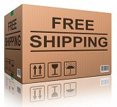 free shipping or delivery order web shop shipment in cardboard box icon for online shopping ecommerc