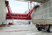 Belarus. Grodno. The Construction Of Hydropower Plants.