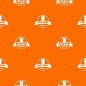Best Wine Pattern Vector Orange For Any Web Design Best poster
